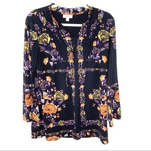 Style & Co BoHo Floral Tunic Women's size Small